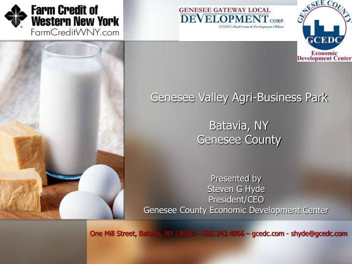 Genesee valley agri business park batavia ny genesee county