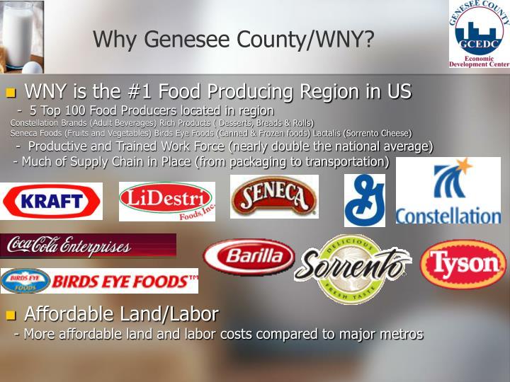 Why Genesee County/WNY?