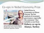 co ops in nobel economy prize