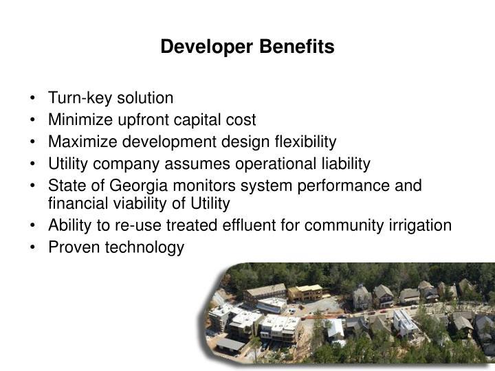 Developer Benefits