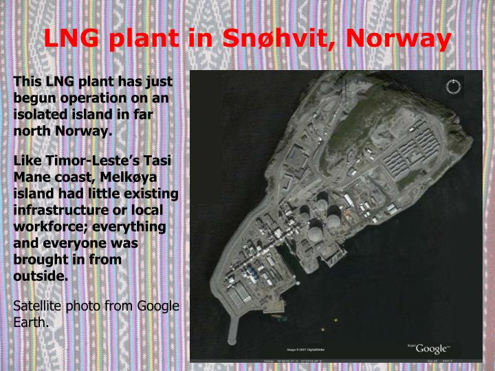 LNG plant in Snøhvit, Norway