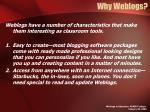 why weblogs