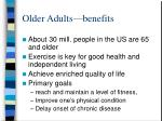 older adults benefits