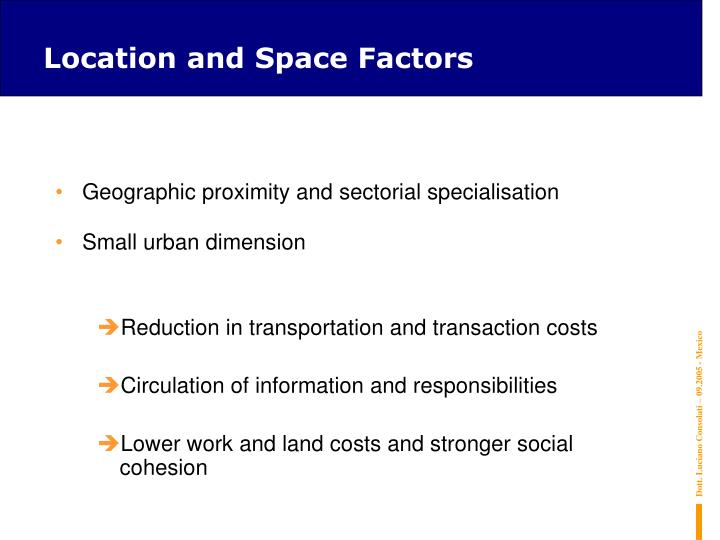 Location and Space Factors