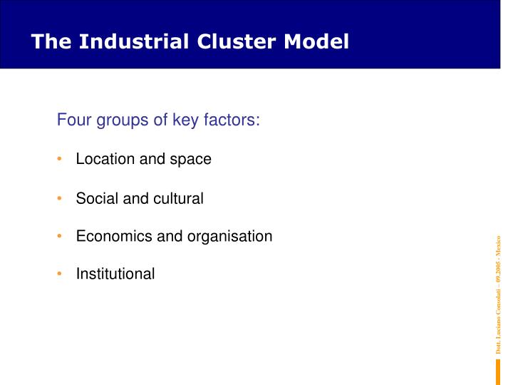 The Industrial Cluster Model