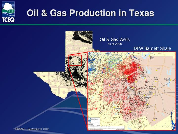 Oil gas production in texas
