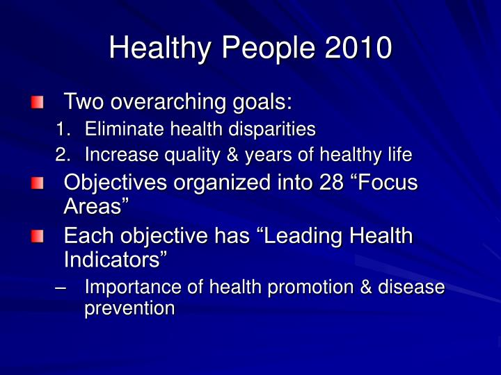Healthy people 2010