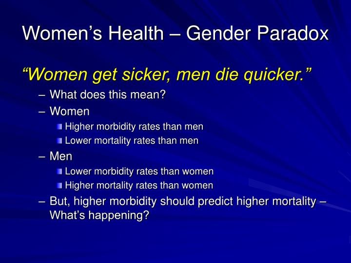 Women's Health – Gender Paradox