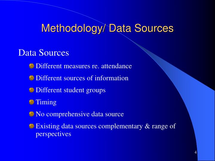 Methodology/ Data Sources