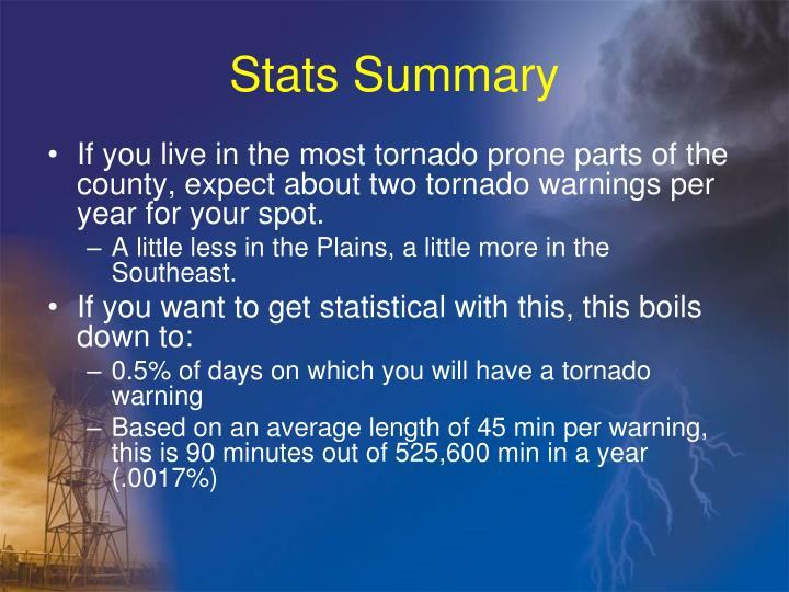 Stats Summary