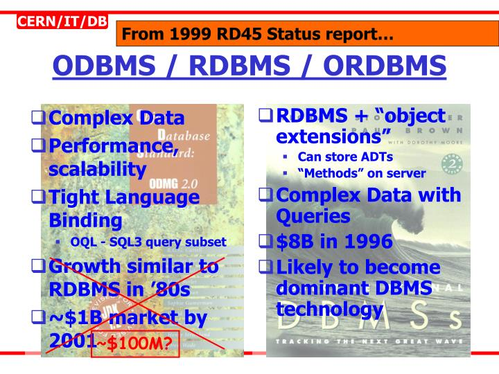 """RDBMS + """"object extensions"""""""