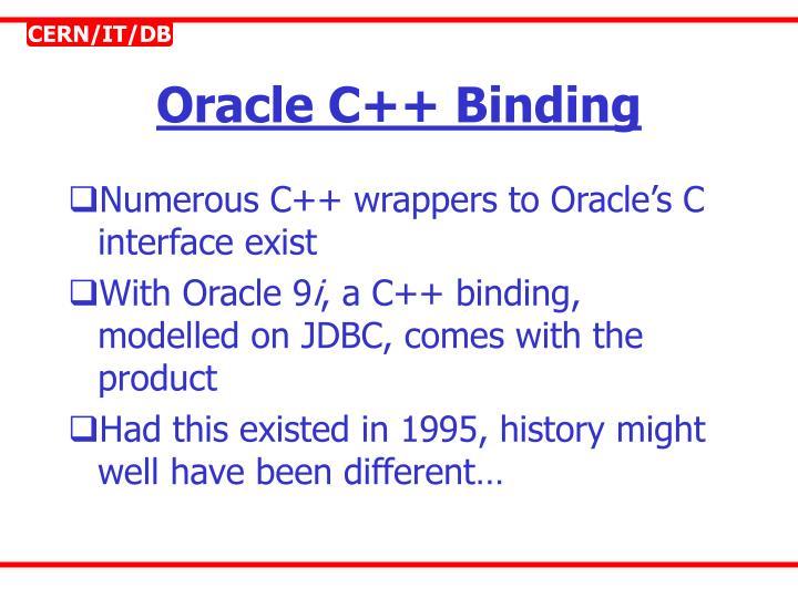Oracle C++ Binding