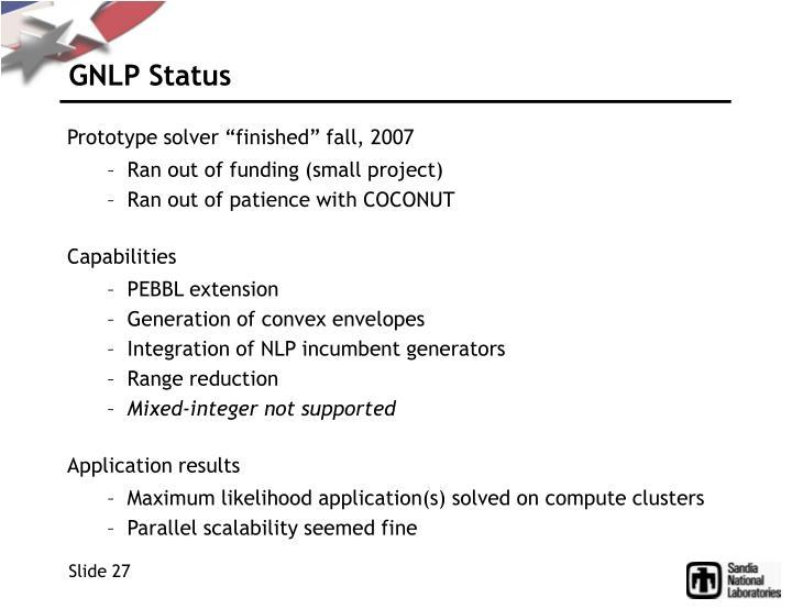 GNLP Status