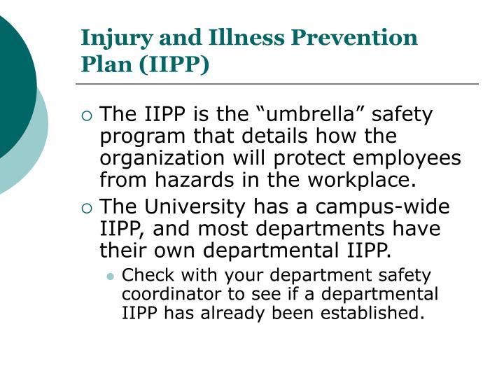 Injury and Illness Prevention Plan (IIPP)
