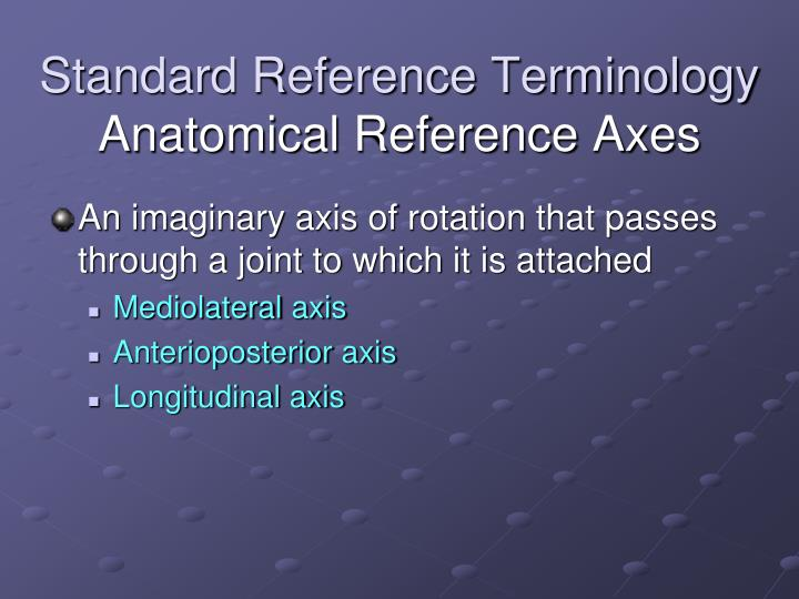 Standard Reference Terminology
