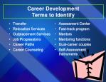 career development terms to identify