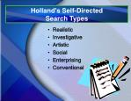 holland s self directed search types
