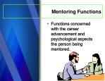 mentoring functions1