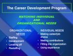 the career development program