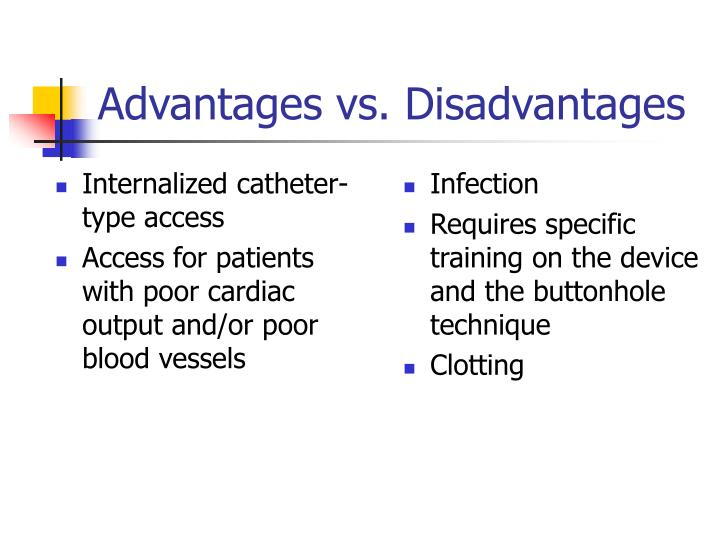 Internalized catheter-type access