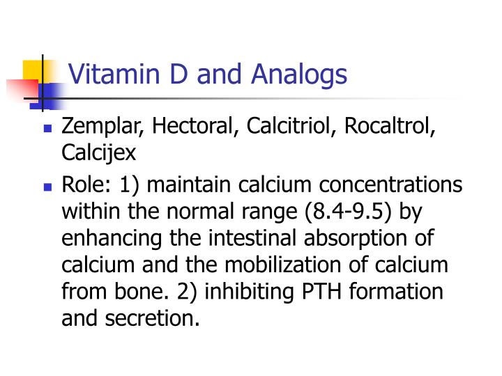 Vitamin D and Analogs