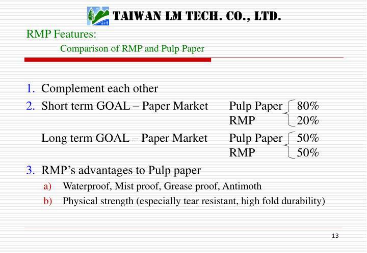 RMP Features