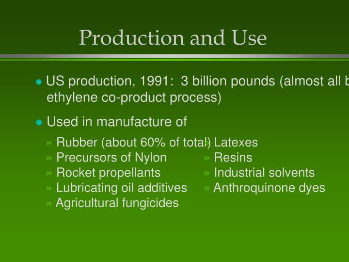 Production and use
