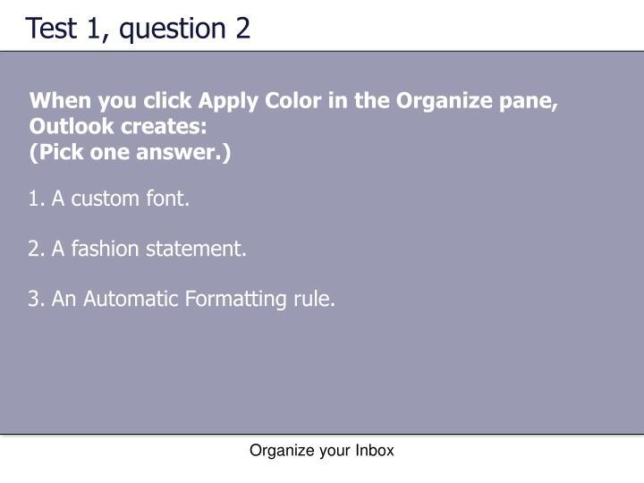 Test 1, question 2