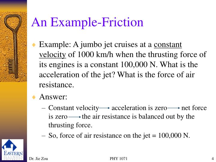 An Example-Friction
