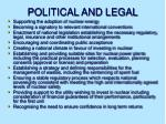 political and legal