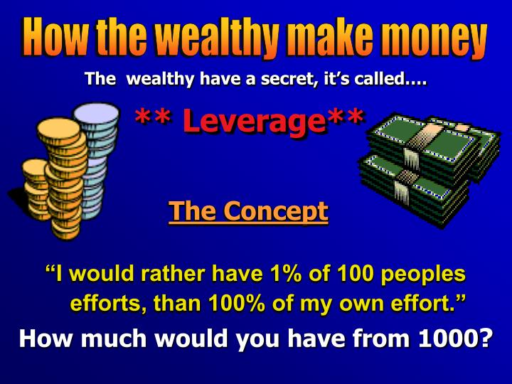 How the wealthy make money