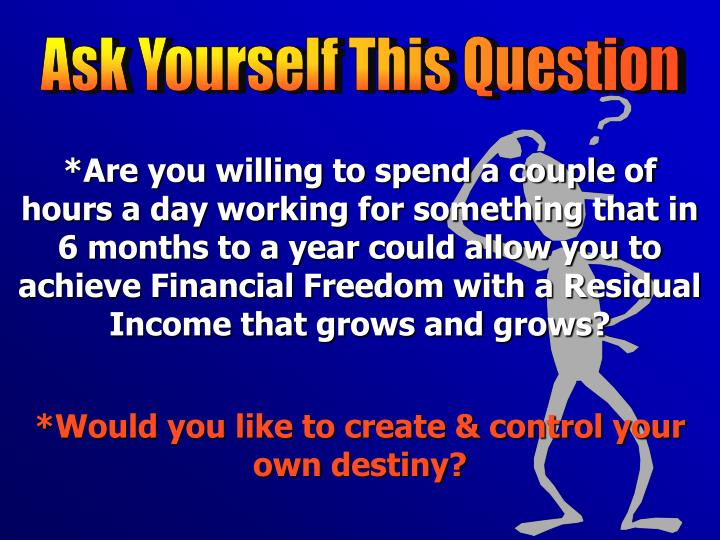 Ask Yourself This Question