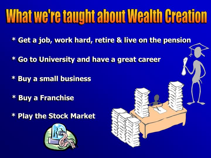 What we're taught about Wealth Creation