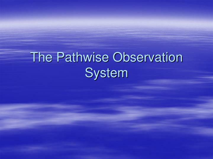 the pathwise observation system n.