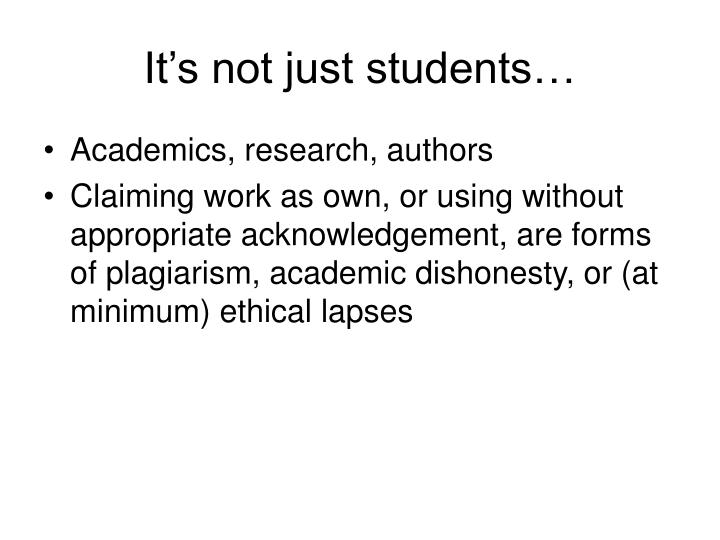 It's not just students…