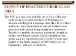 survey of enacted curriculum sec