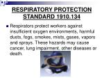 respiratory protection standard 1910 134