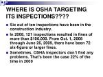 where is osha targeting its inspections1