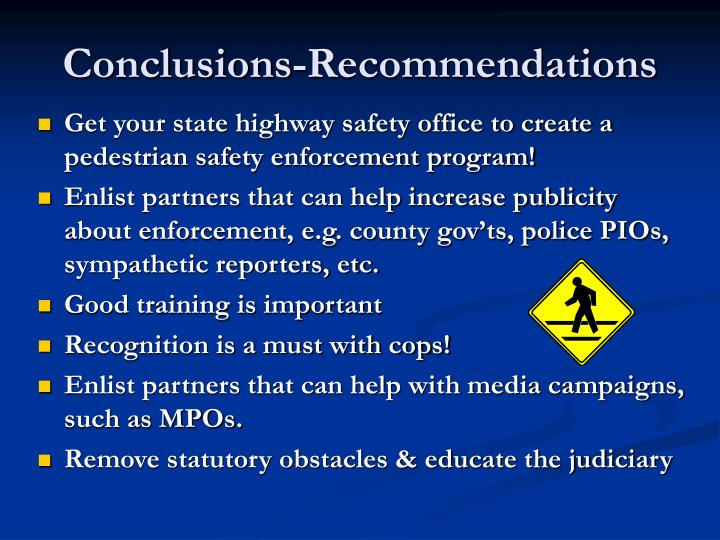Conclusions-Recommendations