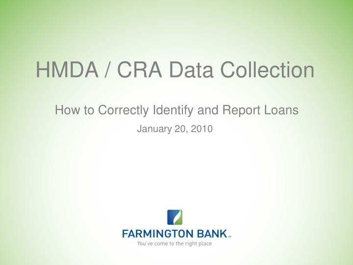 hmda cra data collection n.