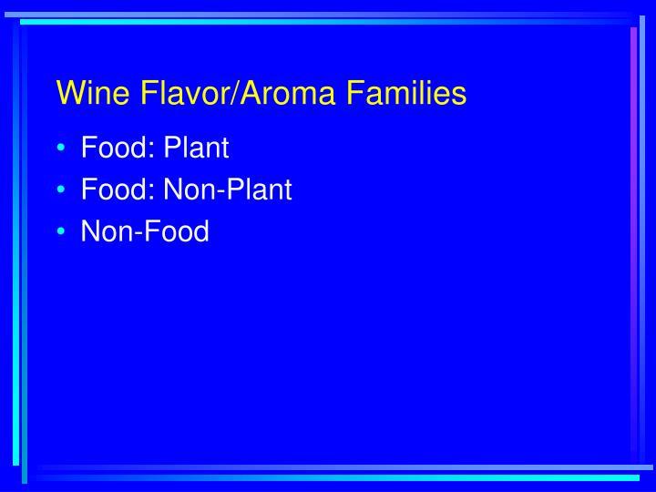 Wine Flavor/Aroma Families
