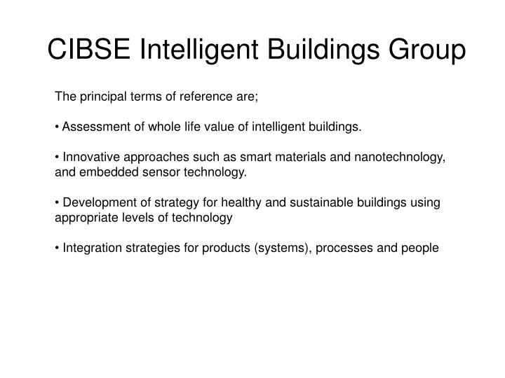 Cibse intelligent buildings group