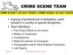 crime scene team