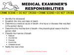medical examiner s responsibilities