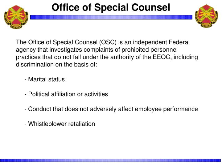 Office of Special Counsel