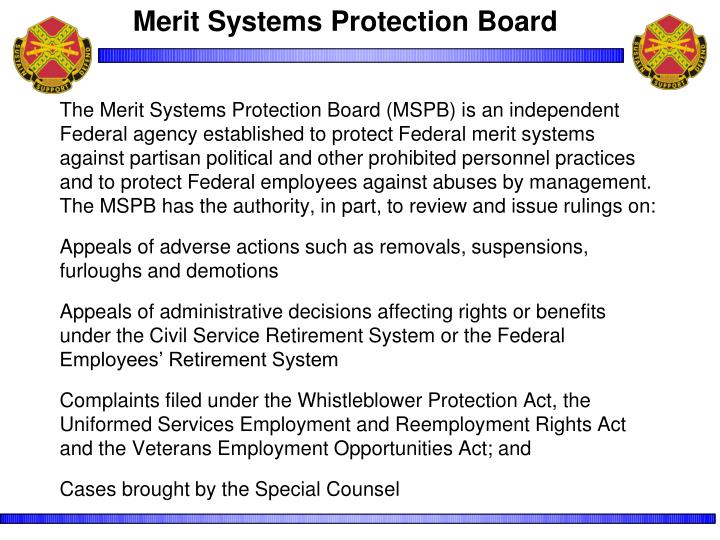 Merit Systems Protection Board