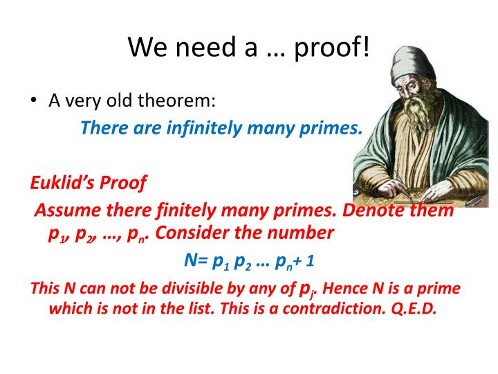 We need a … proof!