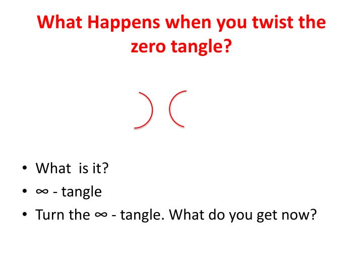 What Happens when you twist the zero tangle?
