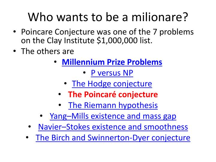 Who wants to be a milionare?