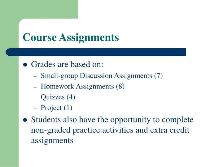Course Assignments